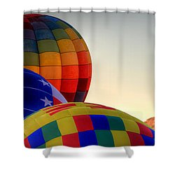 Las Vegas Balloon Festival Shower Curtain