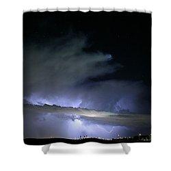 Las Vegas Lightning Shower Curtain