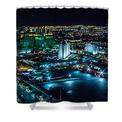 Shower Curtain featuring the photograph Las Vegas Looking North by Michael Rogers
