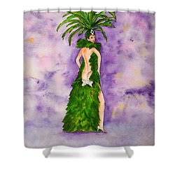 Las Vegas Show Girl Shower Curtain