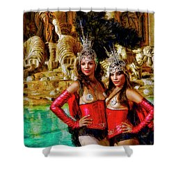 Las Vegas Showgirls Shower Curtain