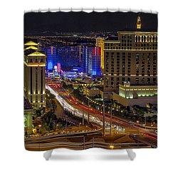Las Vegas Strip Aerial View - Shower Curtain