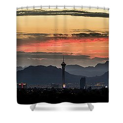 Shower Curtain featuring the photograph Las Vegas Sunrise July 2017 by Michael Rogers
