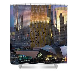 Las Vegas Sunrise Reflection Shower Curtain