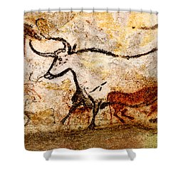 Lascaux Hall Of The Bulls - Aurochs Shower Curtain