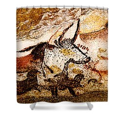 Lascaux Hall Of The Bulls Shower Curtain