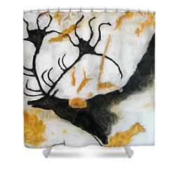 Lascaux Megaceros Deer 2 Shower Curtain