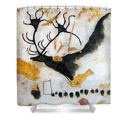Lascaux Megaceros Deer Shower Curtain