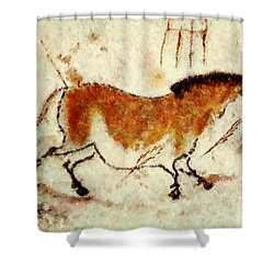 Lascaux Prehistoric Horse Shower Curtain