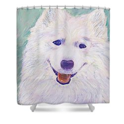 Shower Curtain featuring the painting Laser by Patricia Cleasby