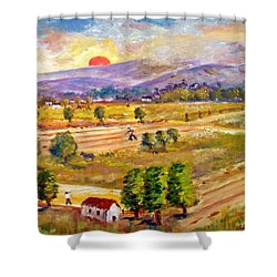 Lasithi Valley In Greece Shower Curtain