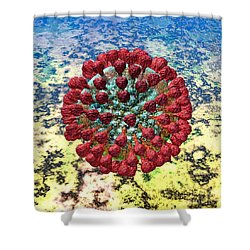 Lassa Virus Shower Curtain