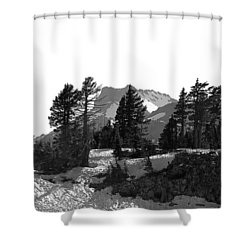 Shower Curtain featuring the photograph Lassen National Park by Lori Seaman