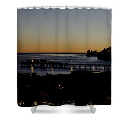 Shower Curtain featuring the photograph Last 2015 Sunset by Lora Lee Chapman