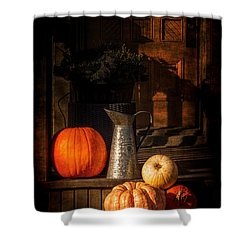 Last Autumn Sunlight Shower Curtain