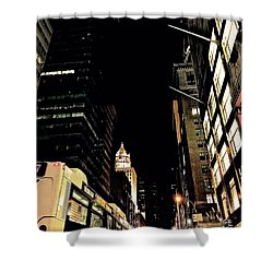 Last Bus Shower Curtain by Gillis Cone