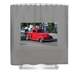 Last Chance Hose Company Shower Curtain by Suzanne Gaff