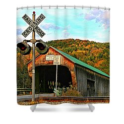 Shower Curtain featuring the photograph Last Days by DJ Florek