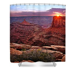 Last Light At Dead Horse Point Shower Curtain