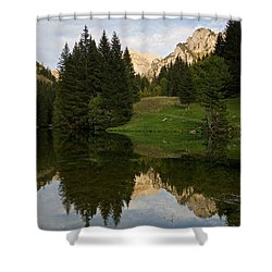 Last Light At Lac De Fontaine Shower Curtain