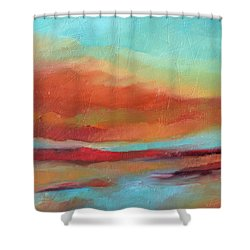 Last Light Shower Curtain by Filomena Booth