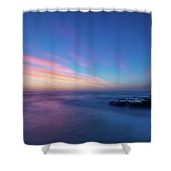 Last Light In April, Sunset Clifs Shower Curtain