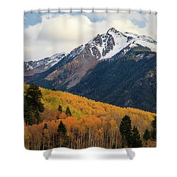 Last Light Of Autumn Shower Curtain by David Chandler