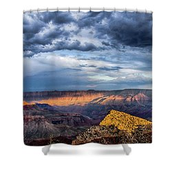 Last Light On Freyas Castle Shower Curtain