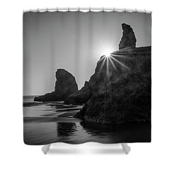Last Light On The Coast Shower Curtain