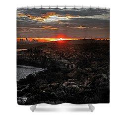 Shower Curtain featuring the photograph Last Light Over North Head Sydney by Miroslava Jurcik