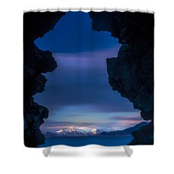 Last Light Through Lava Shower Curtain