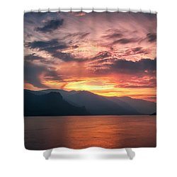 Last Light - Wide Shower Curtain