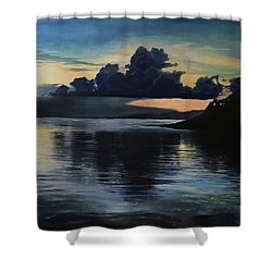 Last Look At Lusias Lagoon Shower Curtain