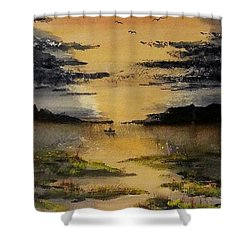 Last One Out Shower Curtain