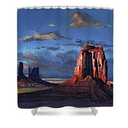 Last Rays Of The Day Shower Curtain