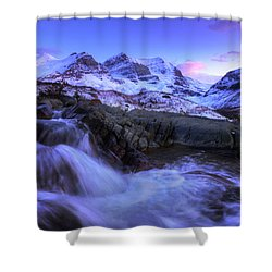 Shower Curtain featuring the photograph Last Rays On Andromeda by Dan Jurak