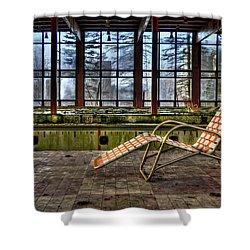 Last Resort Shower Curtain by Evelina Kremsdorf