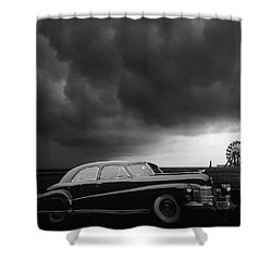 Roadside Attraction Shower Curtain by Larry Butterworth