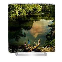 Last Seconds Of Summer Shower Curtain by Robert Frederick