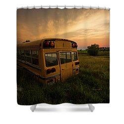 Shower Curtain featuring the photograph Last Stop  by Aaron J Groen
