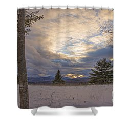 Last Sunset Of 2015 Shower Curtain