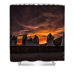 Last Supper At Sunset Shower Curtain