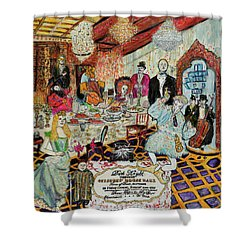 Last Supper, Dark Knight Shower Curtain by Lindsay Strubbe