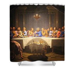 Last Supper Meeting Shower Curtain