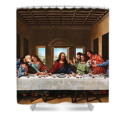 Last Supper Shower Curtain by Michael Nowak