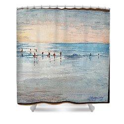 Last Swim Shower Curtain