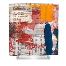Last Train To Kobenhavn- Art By Linda Woods Shower Curtain