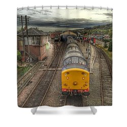 Last Train To Manuel Shower Curtain