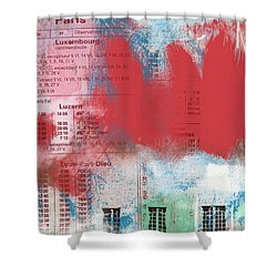 Last Train To Paris- Art By Linda Woods Shower Curtain