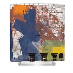 Last Train To Prague- Art By Linda Woods Shower Curtain